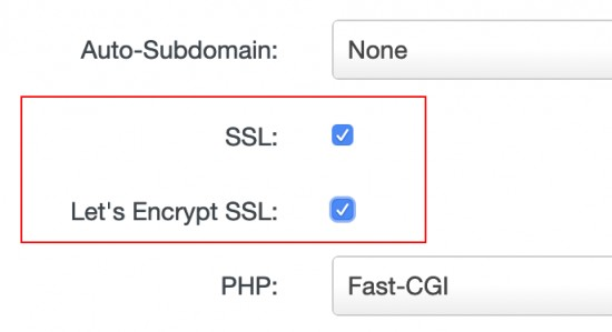 Enable of SSL certificate
