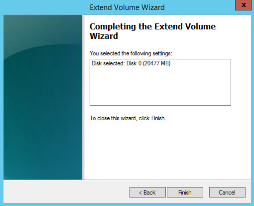 Extend Volume Wizard 3