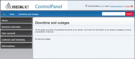 Downtime and outages