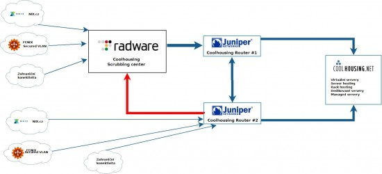 Coolhousing Anti-DDoS, RadWare Scrubing center