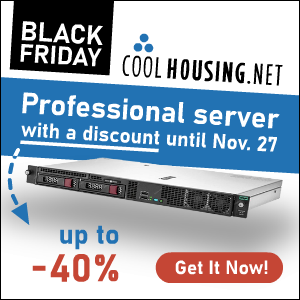 Black Friday of dedicated servers with huge discount up to 40%