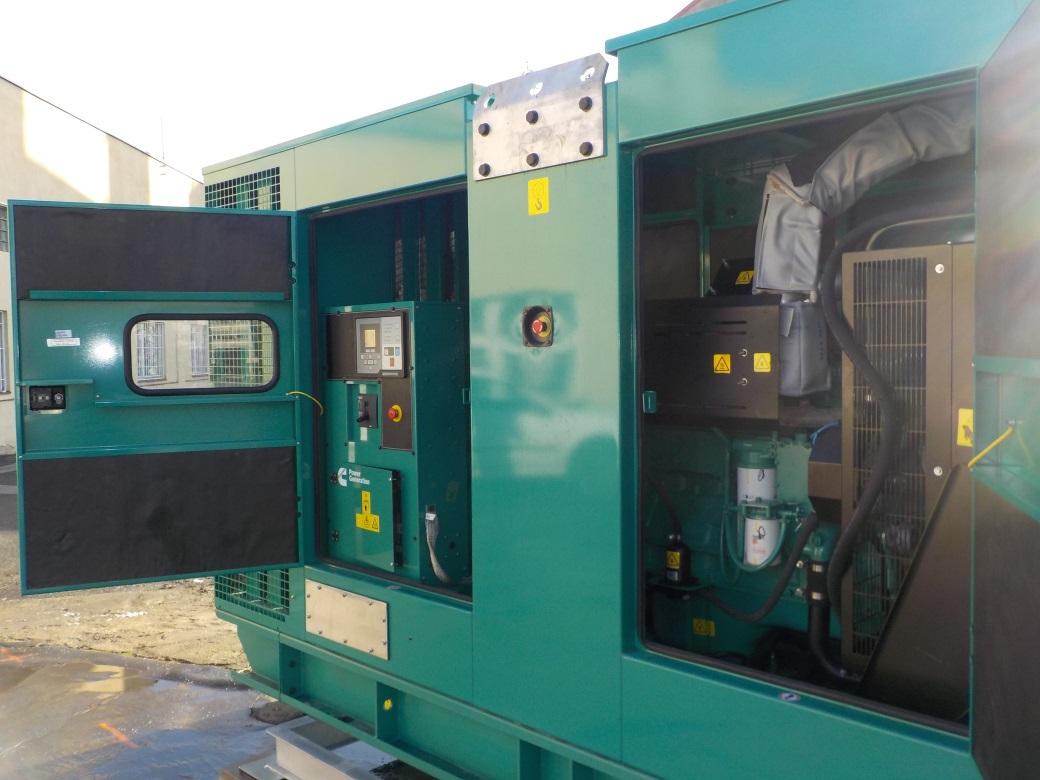 Nový dieselový agregát - zálohový zdroj napájení