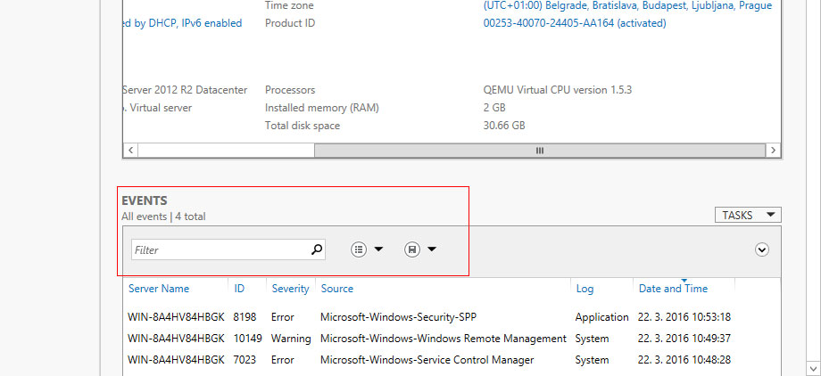 Management of Windows VPS: Server Manager ~ COOLHOUSING s r o
