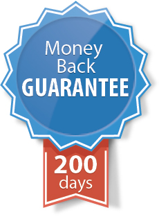 200-day money-back guarantee