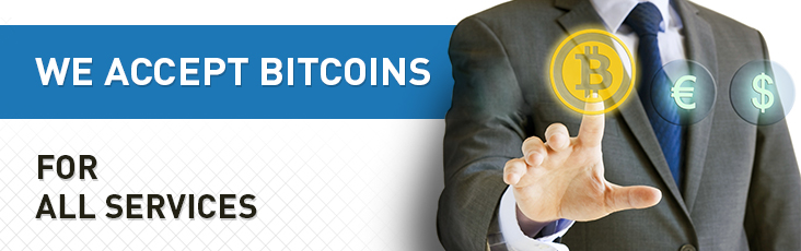 You can pay with bitcoins